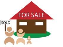被出售的房子销售额 向量例证