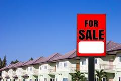被出售的房子 免版税库存图片