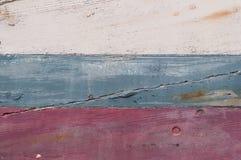 被击毁的小船船 免版税库存图片