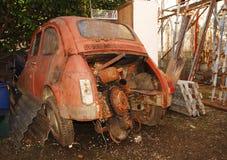 被击毁的汽车意大利老 图库摄影