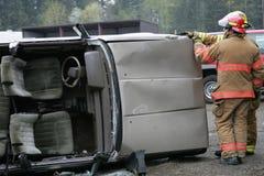 被击毁的汽车 免版税库存图片