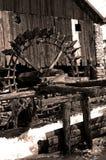 被击毁的磨房水 免版税库存图片