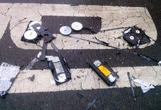 被击碎的和打破的录影带 图库摄影