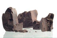 被击碎的巧克力 图库摄影