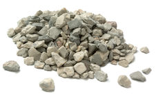 被击碎的石头 图库摄影