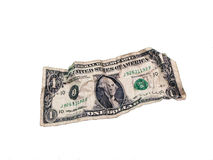 被击碎的美元 免版税库存图片