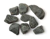 被击碎的花岗岩石头顶视图  库存图片