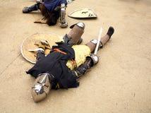 被击败的骑士 免版税库存照片