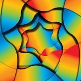 被分割的光谱背景 库存图片