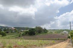 被分割的农田 免版税库存图片