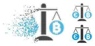 被分散的小点半音欧洲Bitcoin平衡块象 皇族释放例证