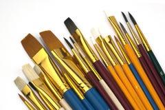 被分类的不同的查出的油漆刷范围 免版税库存图片