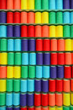 被分类的五颜六色的线程数纱线 图库摄影