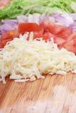 被分类的切成小方块的蔬菜 库存图片