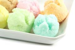 被分类的奶油色类似冰 免版税库存图片