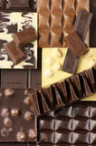 被分类的巧克力 库存图片