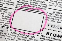 被分类的广告 免版税库存图片