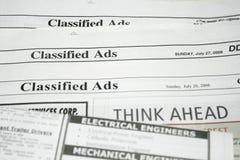被分类的广告 免版税图库摄影