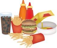 被分类的快餐 免版税图库摄影