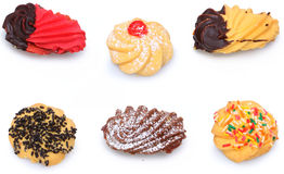 被分类的意大利人Biscotti曲奇饼 库存照片