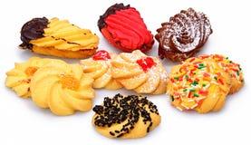 被分类的意大利人Biscotti曲奇饼 免版税库存照片