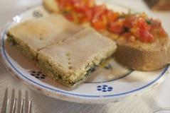 被分类的意大利开胃菜 免版税库存图片