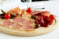 被分类的意大利肉 免版税库存照片