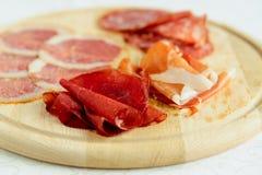 被分类的意大利肉 库存照片