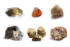 被分类的收集矿物 免版税库存图片