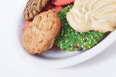 被分类的曲奇饼节假日牌照 免版税库存照片