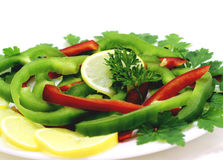 被分类的水果和蔬菜 库存图片