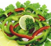 被分类的水果和蔬菜 免版税库存照片