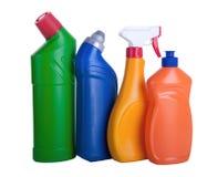 被分类的清洗的家庭产品 免版税库存照片