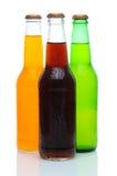 被分类的瓶碳酸钠三白色 图库摄影
