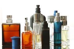 被分类的瓶香水 免版税库存照片