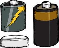 被分类的电池 免版税库存图片