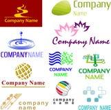 被分类的示例徽标集 免版税库存图片