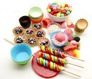 被分类的糖果甜点 免版税图库摄影