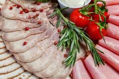 被分类的肉和火腿纤巧 免版税图库摄影