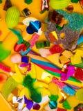 被分类的胶粘的糖果 顶视图 果冻甜点 库存图片
