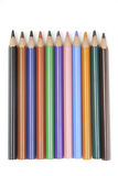 被分类的色的铅笔 免版税库存图片