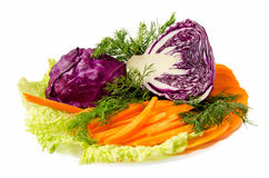 被分类的蔬菜 库存图片
