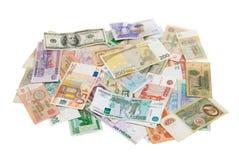 被分类的钞票世界 库存照片