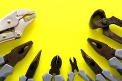 被分类的钳子工具 免版税图库摄影