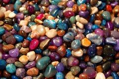 被分类的颜色石头 免版税图库摄影