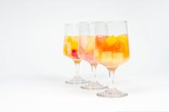 被分类的鸡尾酒果子 免版税图库摄影