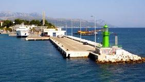 被分裂的绿灯塔-克罗地亚 免版税库存照片
