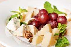 被分类的乳酪盘子 免版税库存图片