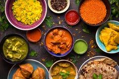 被分类的印地安食物 库存照片