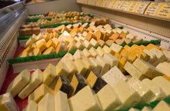 被分类的干酪 库存照片